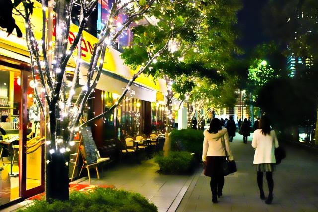 年末の町の風景