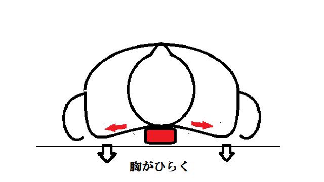 背中縦まくら:整体